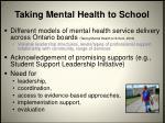 taking mental health to school