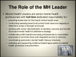 the role of the mh leader