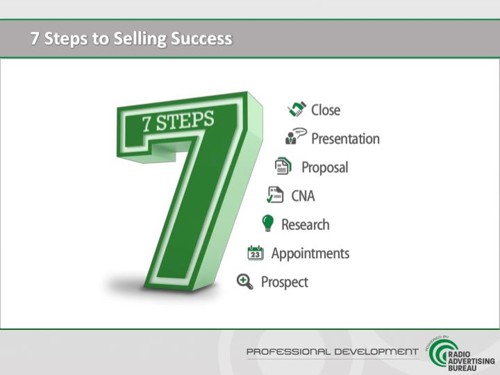 7 Steps to Selling Success