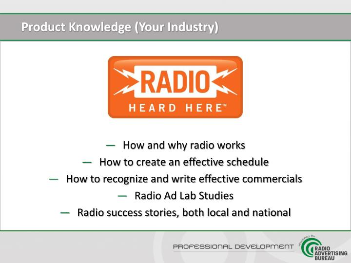 Product Knowledge (Your Industry)