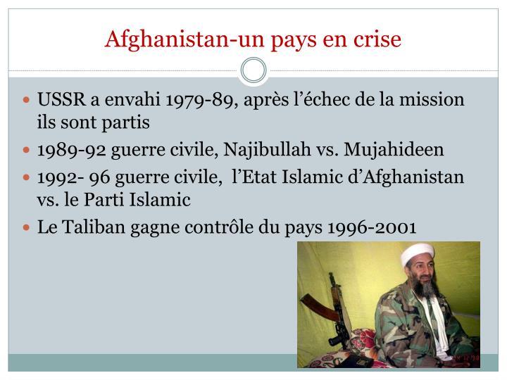 Afghanistan-un pays en crise