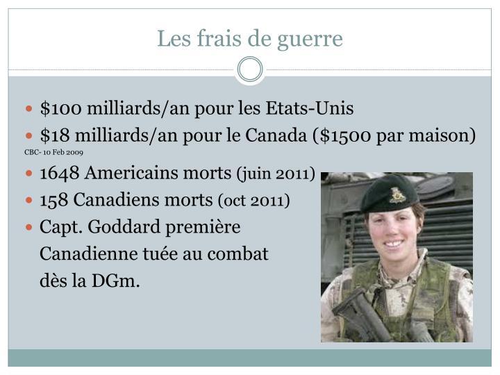 Les frais de guerre