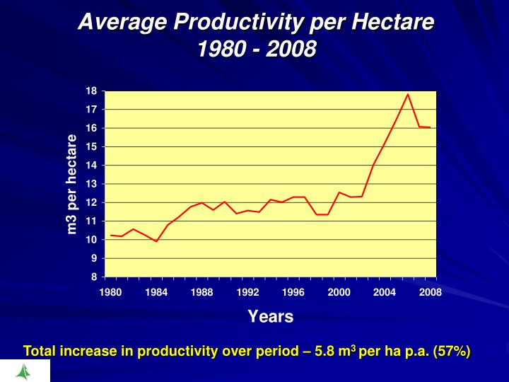 Average Productivity per Hectare
