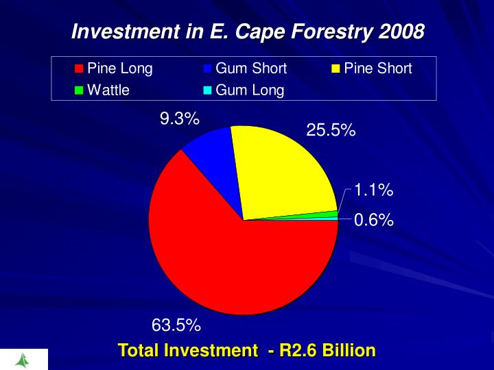 Investment in E. Cape Forestry 2008