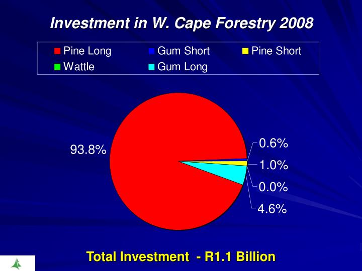 Investment in W. Cape Forestry 2008