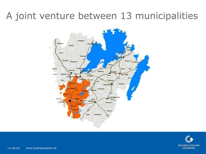 A joint venture between 13 municipalities