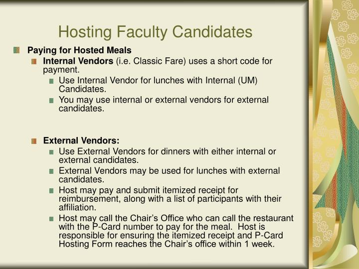 Hosting Faculty Candidates