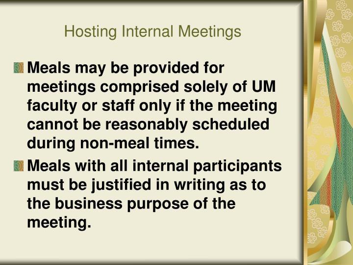 Hosting Internal Meetings