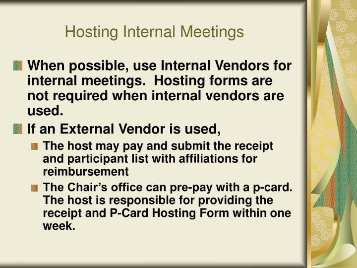 Hosting Internal Meetings