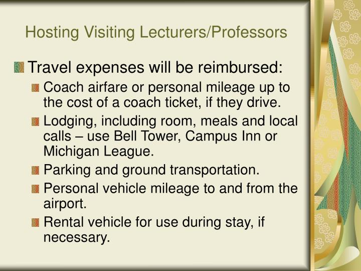 Hosting Visiting Lecturers/Professors