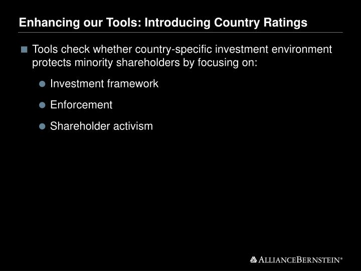 Enhancing our Tools: Introducing Country Ratings