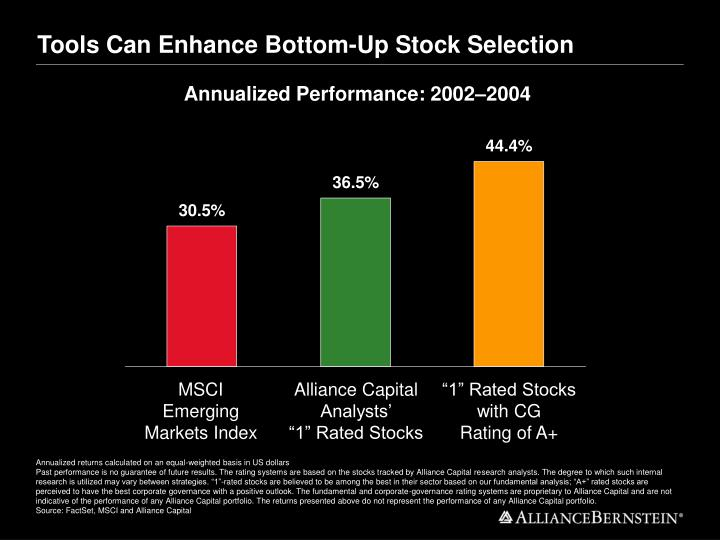 Tools Can Enhance Bottom-Up Stock Selection
