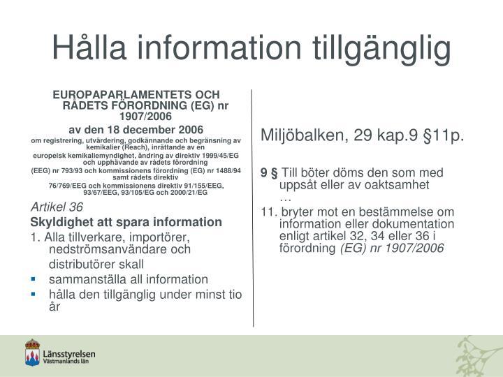 EUROPAPARLAMENTETS OCH RÅDETS FÖRORDNING (EG) nr 1907/2006
