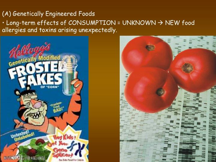 (A) Genetically Engineered Foods
