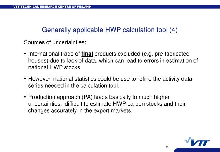 Generally applicable HWP calculation tool (4)