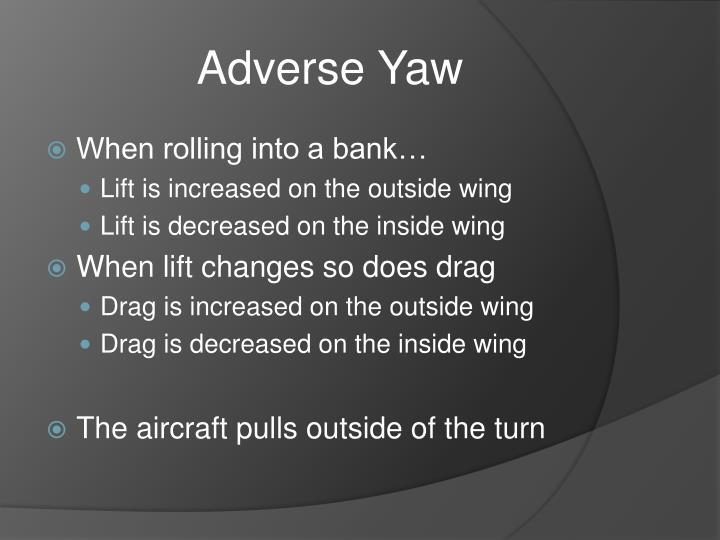 Adverse Yaw