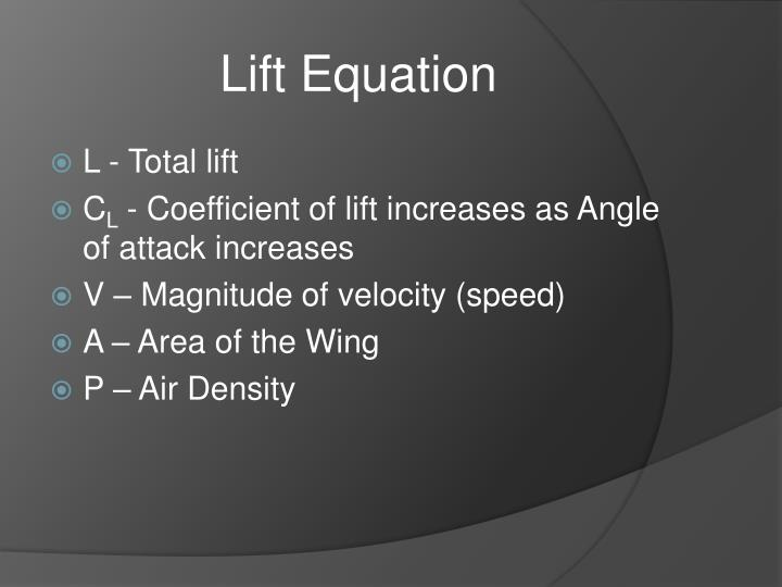 Lift Equation