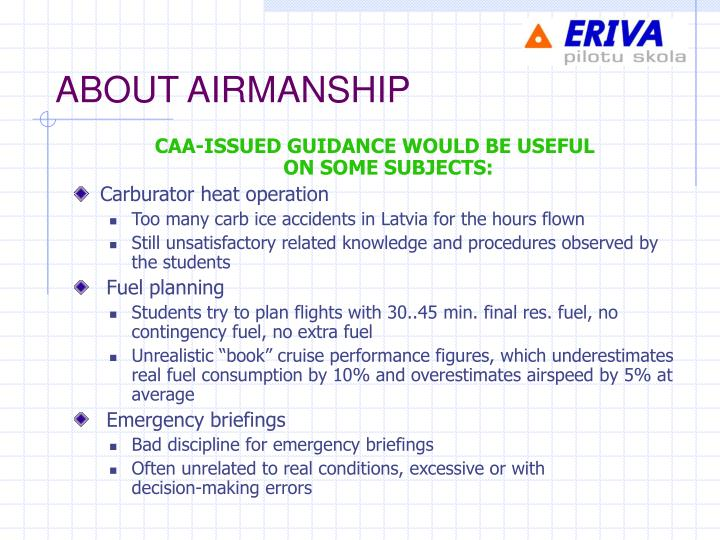 ABOUT AIRMANSHIP