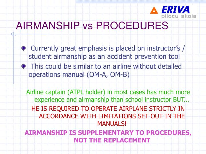 AIRMANSHIP vs PROCEDURES