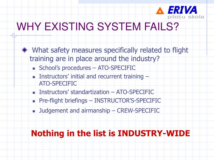 WHY EXISTING SYSTEM FAILS?