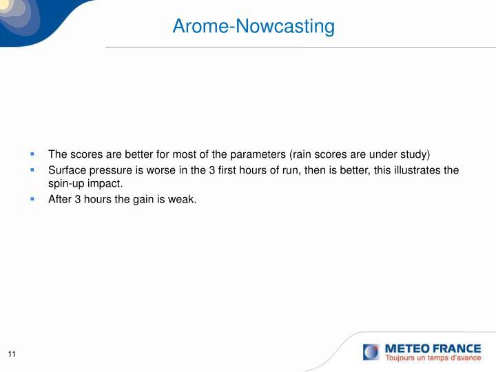 Arome-Nowcasting