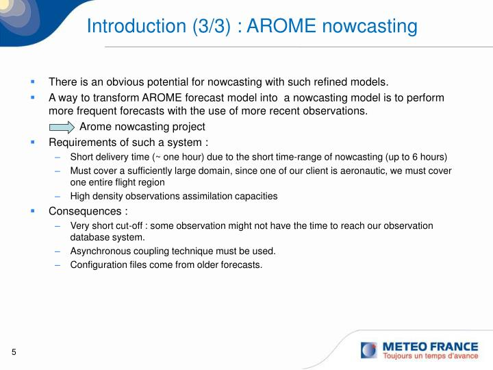 Introduction (3/3) : AROME nowcasting