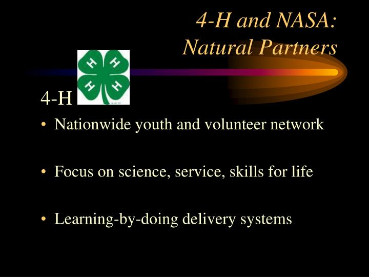 4 h and nasa natural partners