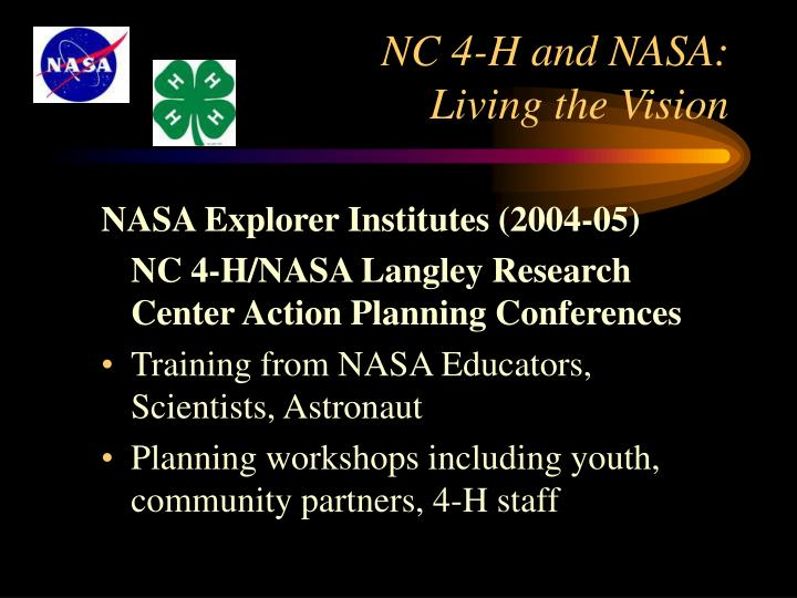 NASA Explorer Institutes (2004-05)