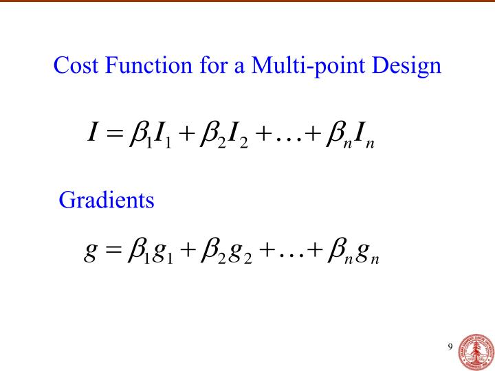 Cost Function for a Multi-point Design