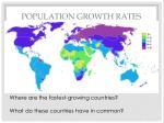 population growth rates