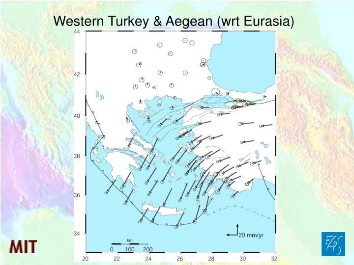 Western Turkey & Aegean (wrt Eurasia)