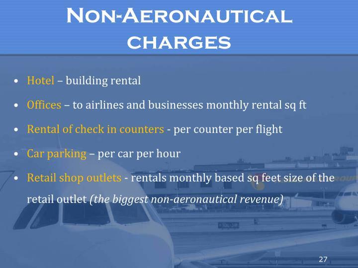 Non-Aeronautical charges