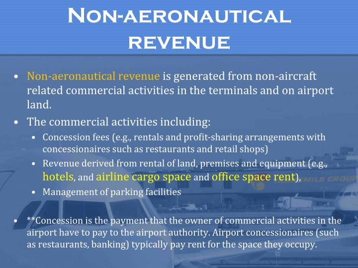 Non-aeronautical revenue
