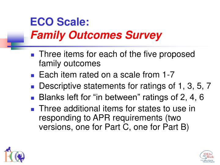 ECO Scale: