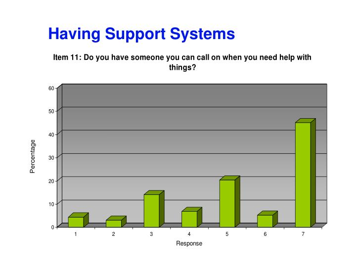 Having Support Systems