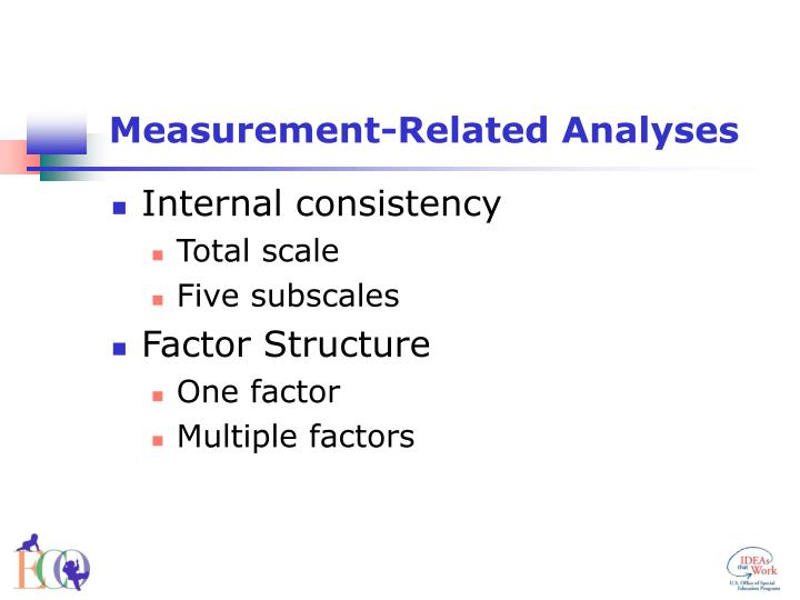 Measurement-Related Analyses