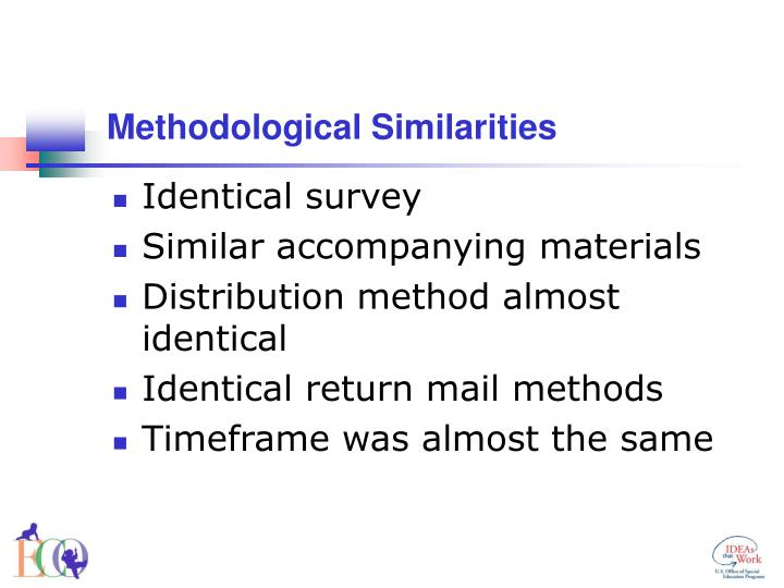 Methodological Similarities