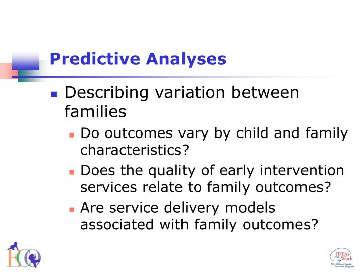 Predictive Analyses