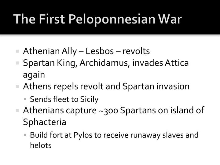 The First Peloponnesian War