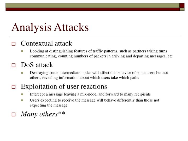 Analysis Attacks