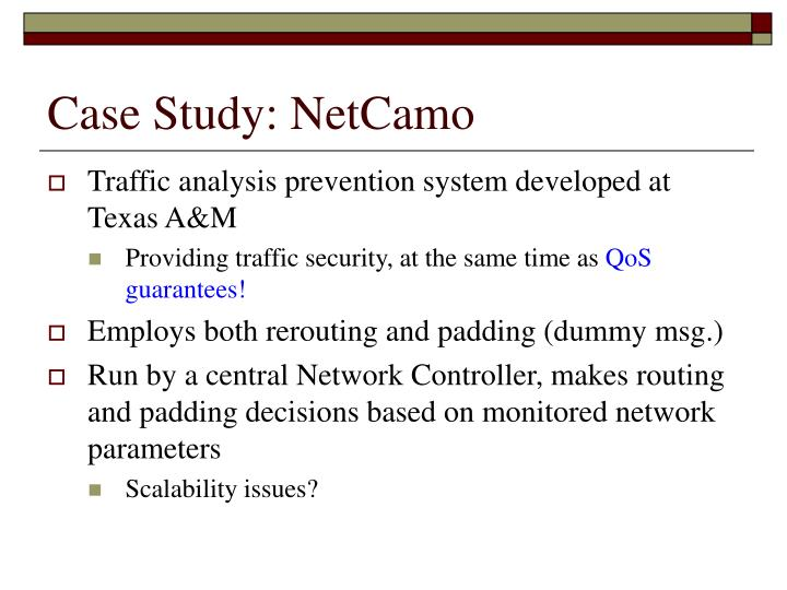 Case Study: NetCamo