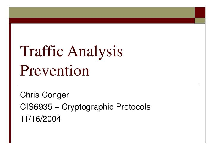 Traffic analysis prevention