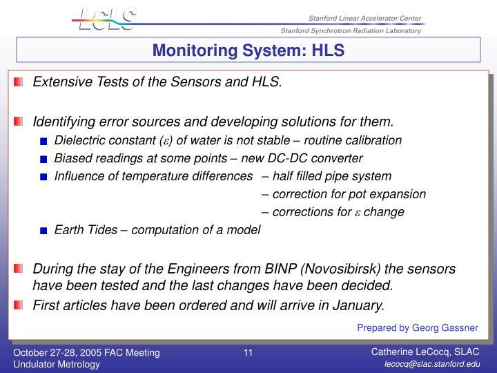 Monitoring System: HLS