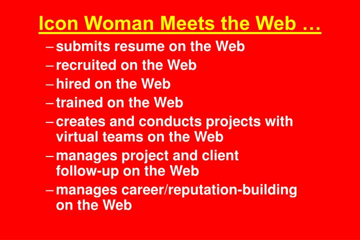 Icon Woman Meets the Web …