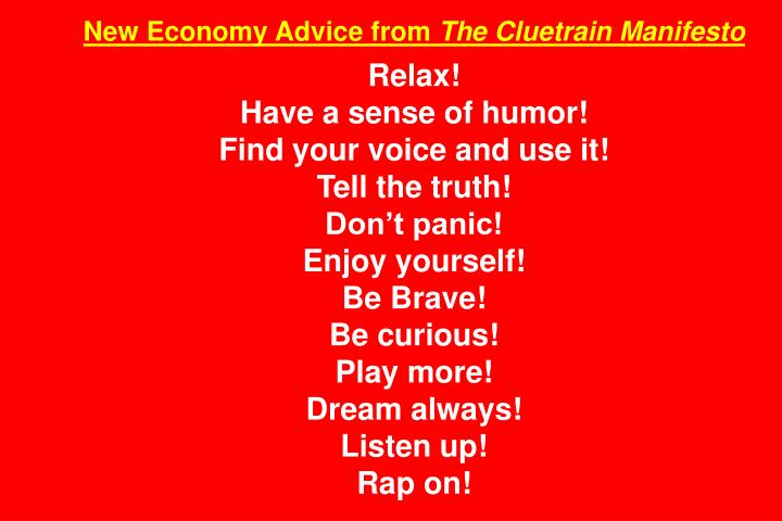 New Economy Advice from