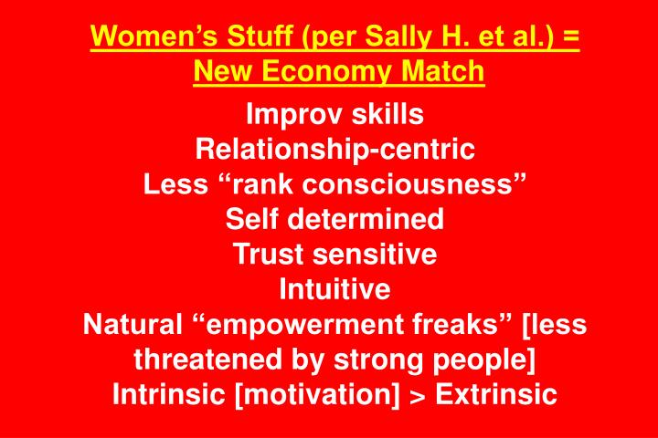 Women's Stuff (per Sally H. et al.) =