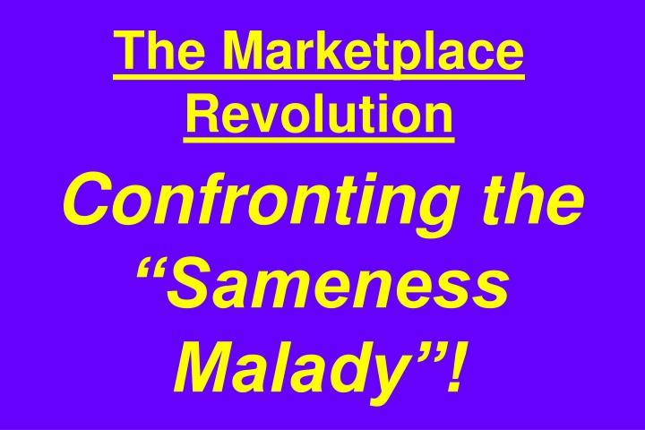 The Marketplace Revolution