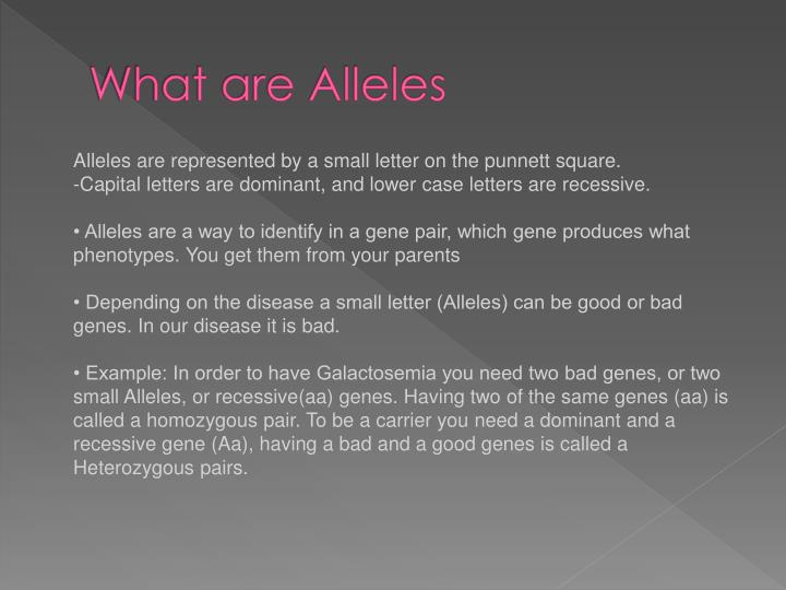 What are Alleles