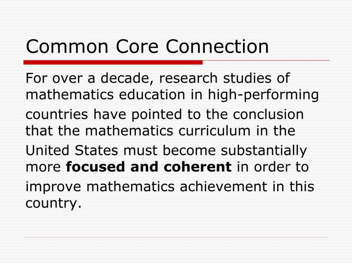 Common Core Connection