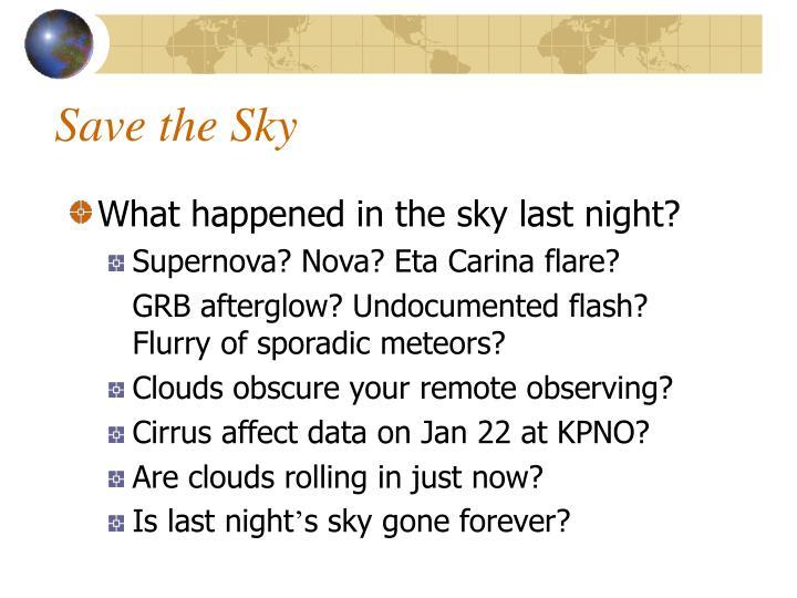 Save the Sky